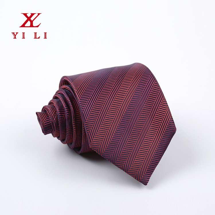 2020年新款色织提花男士条纹经典领带