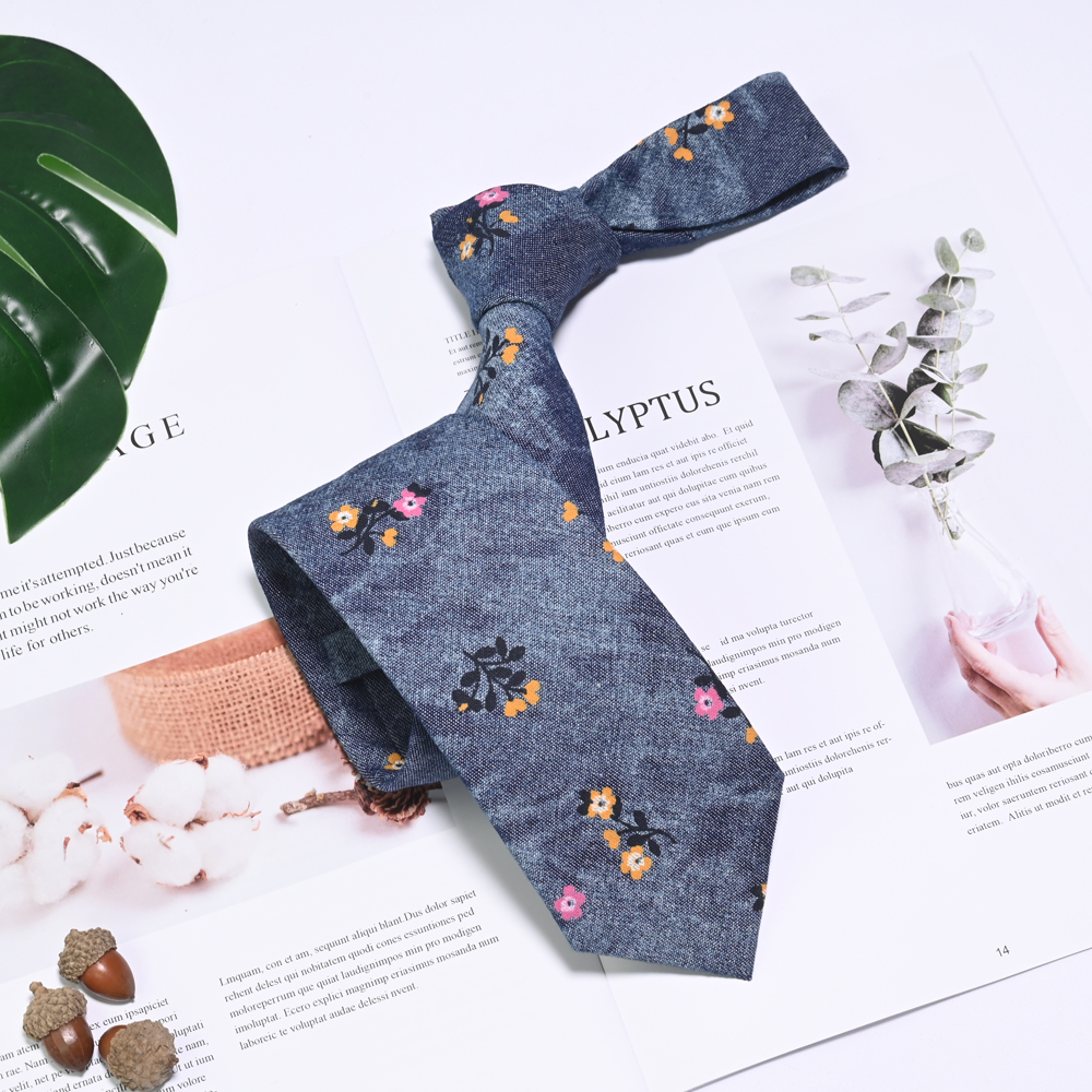 工厂直销价格优惠田园风休闲领带
