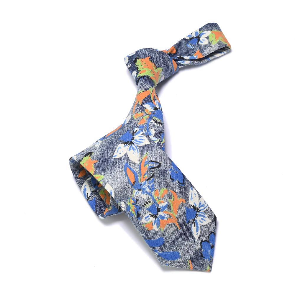 2021休闲款棉布印花潮流男士领带